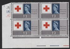 1963 1/3 RED CROSS MINT CONTROL BLOCK OF FOUR (O) SG 643