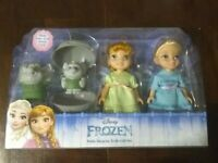 NEW Disney Frozen Anna & Elsa Dolls & Petite Surprise Trolls Gift Set LET IT GO!