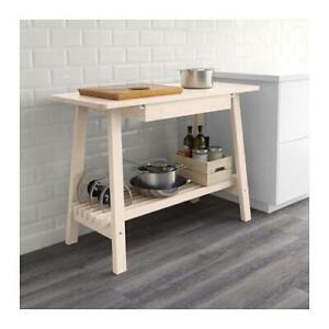 Ikea Norraker Sideboard, White Birch Kitchen Island alternative