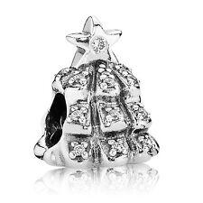 ORIGINALE Pandora S925 Ale Argento e Zirconi Ciondolo Albero Natale in scatola sacchetto/
