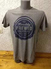 Herren T-Shirt Shirt mit Bier Druck grau Gr. S von E-Bound *B-Ware*