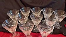 "WATERFORD CRYSTAL TRAMORE PATTERN  5 3/4"" BY 4"" SET OF 13 WINE GLASSES RETIRED"