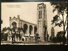 Vintage Postcard>1933>Rockefeller Chapel>University of Chicago>Illinois