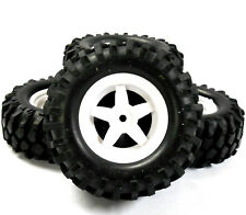 A960096 1/10 off-road rock crawler rueda Neumáticos 4 White Plástico 5 radios V2
