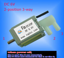 6V DC 2-position 3-way Micro Mini Electric Solenoid Valve for Gas Air / pump