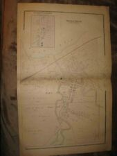 Antique 1881 Cherry & Silver Creek Charlotte Chautauqua County New York Map Nr