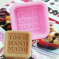 New Rectangle Soap Mold Silicone Mould Fondant Baking Tray Homemade DIY Making