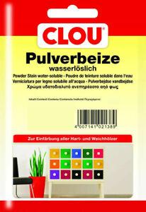 Clou Pulverbeize Wasserbeize Holzbeize Beize Hartholz Weichholz 24 Farbtöne