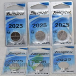 Energizer ECR2025BP Lithium 3V Electronic Coin Cell Battery Exp:03/26 (6 Packs)