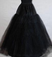 Gotik Schwarz Reifrock Petticoat Unterrock OHNE Reifen Ohne Ringe Tüllrock 100cm