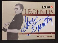 SKEE FOREMSKY  2008 Rittenhouse PBA LEGENDS Bowling AUTOGRAPH On Card  AUTO
