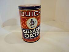 Quick Quaker Oats Red Tin
