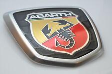 New Genuine Emblem Fiat 500 Abarth Chrome Matt - Satine LOGO Rear Badge OEM FIAT