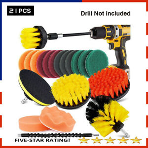 Electric Drill Brush 21 Pieces Set Electric Brush Kitchen Wall Floor Cleaning