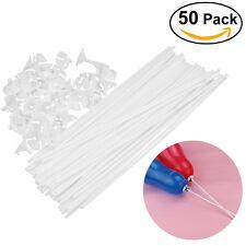 50pcs 40CM Coupe-ballon de sécurité pour enfants avec support de bâton blanc