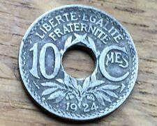 PIECE DE 10 CENTIMES 1924 LINDAUER POISSY (58)