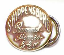 Shippensburg Rummel Hines & Co. Button Brass Vintage Overalls Advertising
