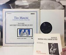 TITO MANCINI - NATALE , MISTERO DELL'AMORE DI DIO2 LP EDIZIONI PAOLINE ANNI 60