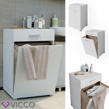 Vicco Cesta portabiancheria Matteo Mobile lavatrice Mobile bagno XL Bianco