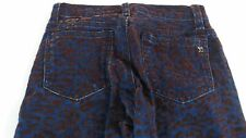 Joes Jeans Jegging Pants Girls 10 Kids Skinny Cheetah Blue Brown 24 x 25 Velvet