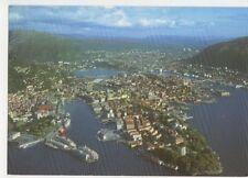 Bergen Byen Sett Fra Fly Norway Postcard 711a