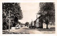 AYERS CLIFF QUEBEC CANADA~MAIN STREET~ASSOC SCREEN REAL PHOTO POSTCARD