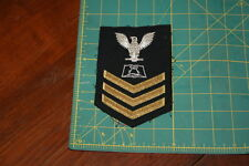 Boatswains Mate First Class Mess Management Gold  Rank Insignia Shoulder Patch