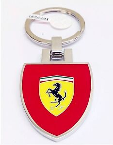 Ferrari Red Shield Keyring Key Ring Metal 270033427 Genuine New Buy 2-get 1 Free