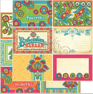 Graphic 45  2 sheets, Bohemian bazaar collection, LAP OF LUXURY