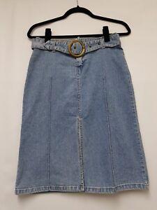 Womens Fashion That Fun:ctions Denim Skirt Size 6 Womens Straight Pencil Skirt