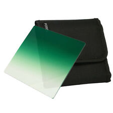 """FOTGA 4"""" x 4"""" 101mm Square Graduated Green Filter for Matte Box Holder Trays"""