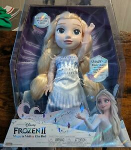 """Disney Frozen 2 Magic In Motion Elsa Doll Sings """"Show Yourself"""" Music + Lights"""