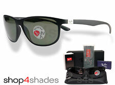 Ray Ban LiteForce Unisex Sunglasses MATTE BLACK_POLARISED GREEN 4213 601S 9A