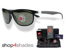 Ray Ban LiteForce Unisex Gafas de Sol Negro Mate _ Polarizado Verde 4213 601S 9A