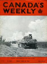 CANADA'S WEEKLY June 23 1944 WW2 Canadian Troops Roll of Honour Normandy Italy