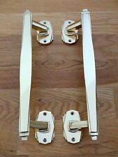 BRASS ART DECO DOOR PULL HANDLES KNOBS PLATES FINGER PUSH RAIL VINTAGE LARGE