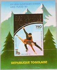 TOGO 1980 Block 153 Winter Olympics Lake Placid Ice Skating Eiskunstlauf MNH