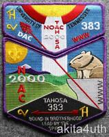 2000 NOAC Lodge 383 Tahosa Set (S28 & X9) OA/BSA