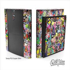Sony PS3 Super Slim Skin Sticker Kit Sticker Bomb v1