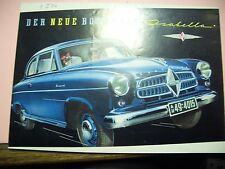 Original Autoprospekt Sales Brochure Borgward Isabella Technische Daten