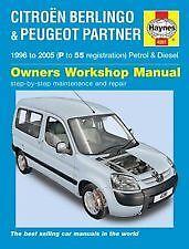 Haynes Owners + Workshop Car Manual Berlingo & Peugeot Petrol + Diesel H4281