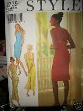 Style UNCUT Pattern 2735 SEXY Cross Back Pencil Dress 2 Length 8 10 12 14 16 18