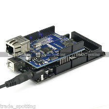 SainSmart Mega2560 R3 ATMEGA16U2 + Ethernet Shield W5100 Kit For Arduino A067