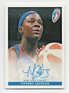 2008 WNBA Autograph #TJ Tiffany Jackson New York Liberty