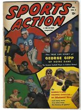 """Sports Action #2 - Notre Dames' Geroge Gipp story """"Gipper"""" - 1st issue - TGL"""