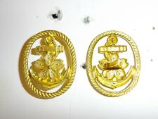 84e84dd62 e2664 WW2 Japan Japanese Navy Visor hat/cap Chief Petty Office badge R17A