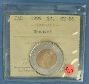 Canada - 1999 - Nunavut - Two Dollars(Toonie) - ICCS Graded MS-66