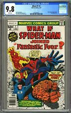WHAT IF? #1 - CGC 9.8 - WP NM/MT - WHAT IF SPIDERMAN JOINS FANTASTIC FOUR