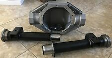 """FORD 9"""" INCH 54"""" LONG ALUM REAR END W/SMALL BEARING ENDS AND PERCHES WELDED ON"""