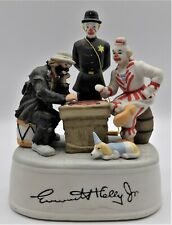 "Vintage Emmett Kelly Jr Bisque Music Box ""With A Little Bit of Luck"" by Flambro"